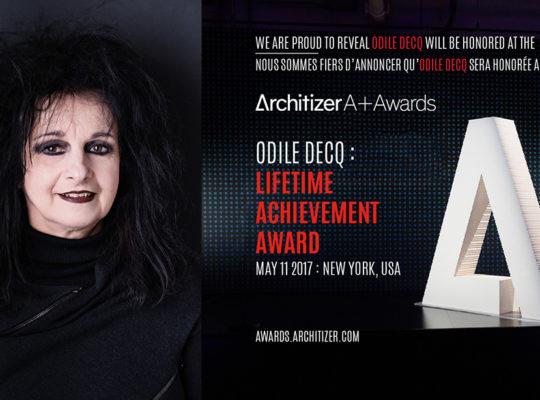 Odile Decq vincitrice del premio Architizer A+Awards